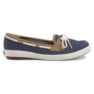 Keds Navy Blue Nautical Striped Boat Shoes